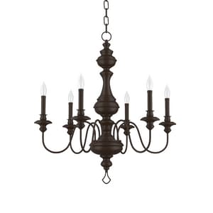 Park Harbor Cardiff 60W 29-3/4 in. 6-Light Candelabra E-12 Chandlier PHHL6316