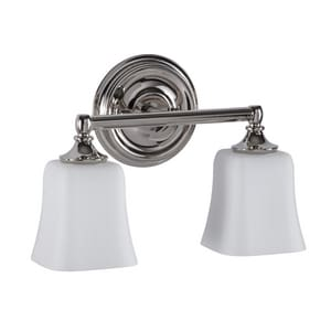 Park Harbor Scarborough 10 X 14 In 100w 2 Light Medium E 26 Vanity Fixture In Polished Nickel