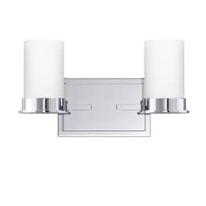 Park Harbor® Aventura 7-7/8 x 14 in. 100W 2-Light Medium E-26 Vanity Fixture PHVL2152