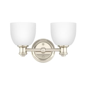 Park Harbor® Peebles 8-3/8 x 14-3/8 in. 100W 2-Light Medium E-26 Vanity Fixture PHVL2132