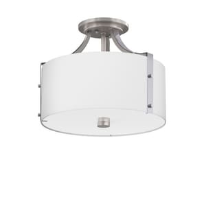 Park Harbor® Highfield 11-3/8 x 14-7/8 in. 60W 3-Light Medium E-26 Semi-Flush Mount Ceiling Fixture PHSFL4203