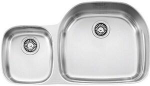 Consumer Products Prestige 2-Bowl Undercounter Left Hand Kitchen Sink ...