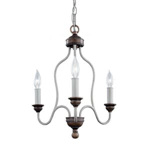 Murray Feiss Industries Hartsville 18-5/8 in. 3-Light Candelabra E-12 Base Chandelier MF29973