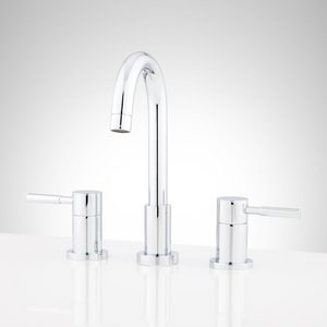 Mirabelle® Edenton 3-Hole High Arc Widespread Bathroom Sink Faucet with Double Lever Handle and 5-3/8 in. Spout Reach MIRWSCED800H