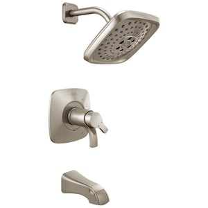 Delta Faucet Tesla® 2 gpm Pressure Balance Tub and Shower Trim with Double Lever Handle (Trim Only) DT17452