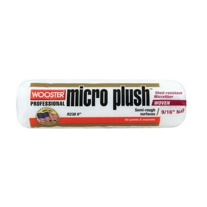 Wooster Micro Plush™ 9 in. Roller Cover with 9/16 in. Nap in White and Green WR2389
