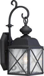 Nuvo Lighting Wingate 9-1/4 in. Medium E-26 Base Wall Sconce in Textured Black N605621