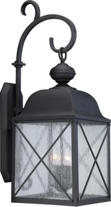 Nuvo Lighting Wingate 15-1/2 in. Candelabra E-12 Base Wall Sconce in Textured Black N605623