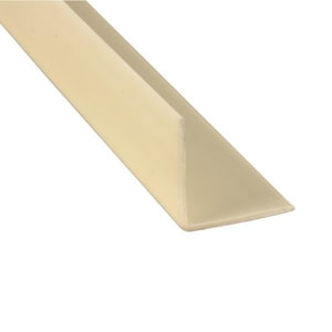Primeline Products 1-1/8 in. Corner Guard with Screw in Almond KAMPMP10345