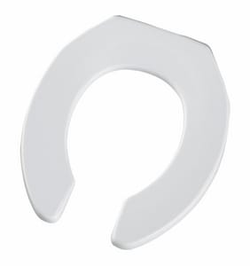 Church Seat Sta-Tite® Plastic Round Open Front Toilet Seat in White C397CT000