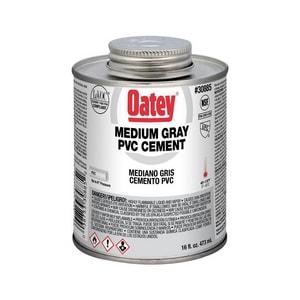 Oatey 16 oz. 24-Pack PVC Medium Body Cement in Grey O30885