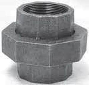 Ground Joint 250# Black Malleable Iron Union B250U