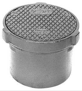 Zurn Industries 3-5/8 in. Non-Adjustable Floor Cleanout with Cast Iron Top ZZ14026NL
