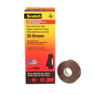 3M Scotch® 3/4 in. x 66 ft. Coding Tape in Brown 3M05400710885