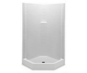 Aquatic Industries Everyday 38 x 38 in. Tile Corner Shower A1382NACTWH