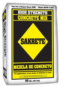 William H. Harvey Sakrete® Bag Sack Pre- MixedConcrete S80