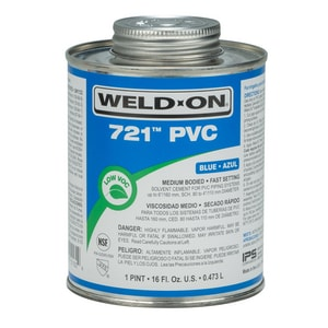 Weld-On 1 pt PVC Medium Body Cement in Blue I10162