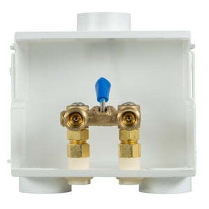 Weld-On 1/2 in. CPVC Dual Drain Box with Single Lever in White I85637