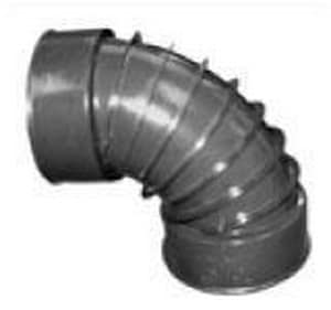 Advanced Drainage Systems Snap Corrugated Straight HDPE 90 Degree Elbow A90AA