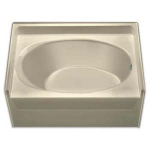 Aquarius Industries Luxury 60 x 42 in. 3-Wall Alcove Fiberglass Reinforced Plastic Oval Bath Tub in White AG4260TOWH