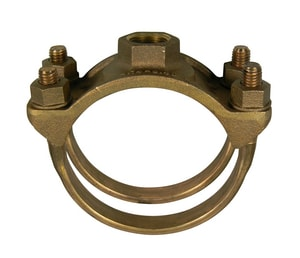 A.Y. McDonald 4 in. IPS Brass Double Strap Saddle M3826P