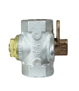 A.Y. McDonald 175 psi Galvanized Gas Meter Stop Valve with Lockwing M560G
