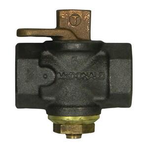 A.Y. McDonald 100 psig Tamperproof Gas Cock in Black with Lockwing M10687B