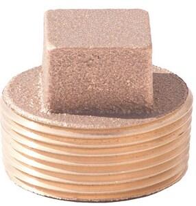 MNPT Brass Straight Cored Plug BRCPLUG