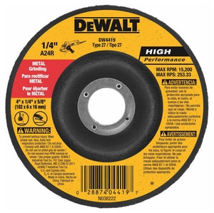 Dewalt 5/8 in. High Performance Metal Grinding Wheel DDW4523