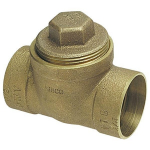 Drainage Waste and Vent Cast Copper Test Tee with Plug CCDWVCOTT
