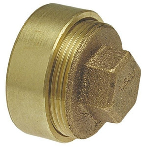 3 x 2-1/2 in. FTG x Clean-Out Brass DWV Flush with Plug CCDWVFCFLCOM