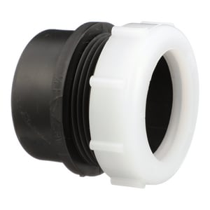 Spigot x Slip-Joint Plastic Trap Adapter with Nut ADWVMTAPNJ