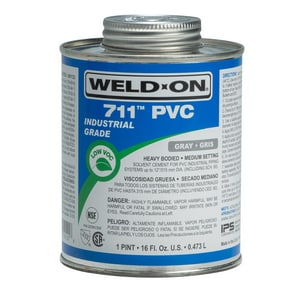Weld-On 1 pt PVC Light Duty Cement in Grey I10121