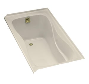 Kohler Hourglass® 20 x 60 x 32 in. 64 gal 3-Wall Alcove Bathtub with Left Hand Drain K1219-L