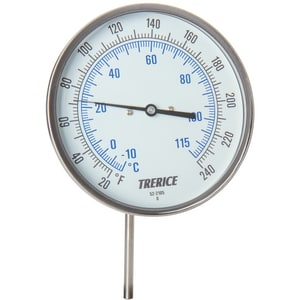 H.O. Trerice 0-200 Degree F 2-1/2 in. Bimetal Thermometer TB8560204