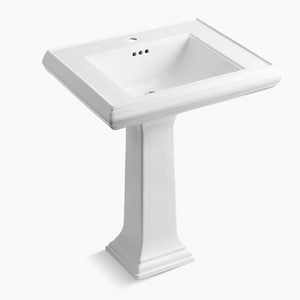 Kohler Memoirs® 1-Hole Bathroom Rectangular Lavatory Sink with Rear Center Drain K2258-1