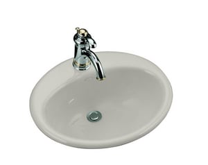 Kohler Farmington® 19-1/4 x 16-1/4 in. Drop-in Bathroom Sink with Single Faucet Hole K2905-1