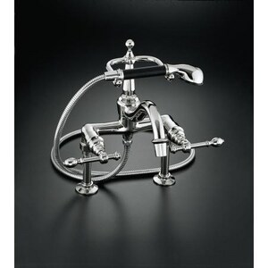 Kohler IV Georges Brass® Double Lever Handle Bath Faucet with Hand Shower K6905-4