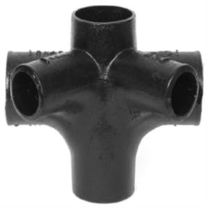 No-Hub Cast Iron Sanitary Cross with 2 45 Degree Same Side Openings NHSCR24ISSM