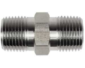 Tylok 1/4 in. Schedule 40 Stainless Steel Threaded Both Ends HEX Nipple TSS41HLN
