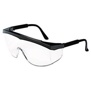 Crews Stratos® Safety Glasses with Black Frame & Clear Lens CSS110