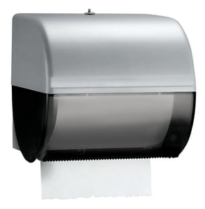 Kimberly Clark 10 in. Hard Roll Towel Dispenser in Smoke Grey K09746