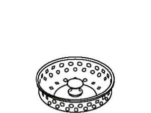 Kohler Basket Strainer in Polished Chrome K57027-CP