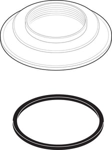 Delta Faucet Handle Base with Gasket DRP23095