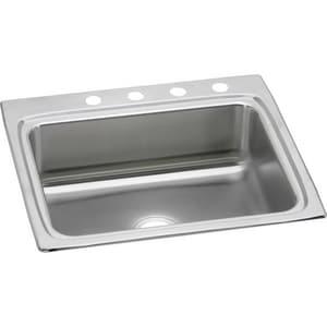 Elkay Gourmet Lustertone® 25 x 22 in. Stainless Steel Single Bowl Top Mount Sink ELR2522