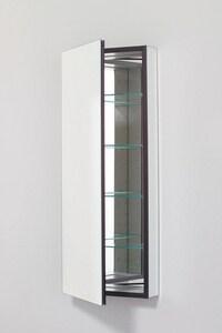 Robern SafeSeal® 16 x 40 x 4 in. Flat Plain Left Hinge Medicine Cabinet with Electric 4-Adjustable glass shelves RMP16D4FPLE