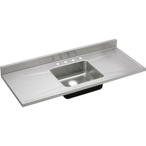 Elkay Gourmet® 4-Hole 1-Bowl Stainless Steel Kitchen Sink in Lustrous Highlighted Satin ES60194