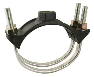 Ford Meter Box 6 in. IP Ductile Iron Black Double Strap Saddle FF202669IP
