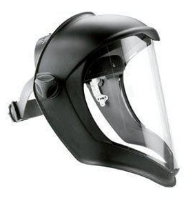 Uvex Bionic Face Shield with Clear Polycarbonate Visor HS8500 at Pollardwater