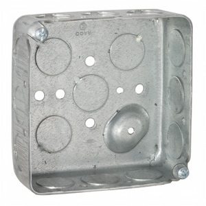 Raco 1-1/2 in. Square Box with 1/2 in. Knockout R190